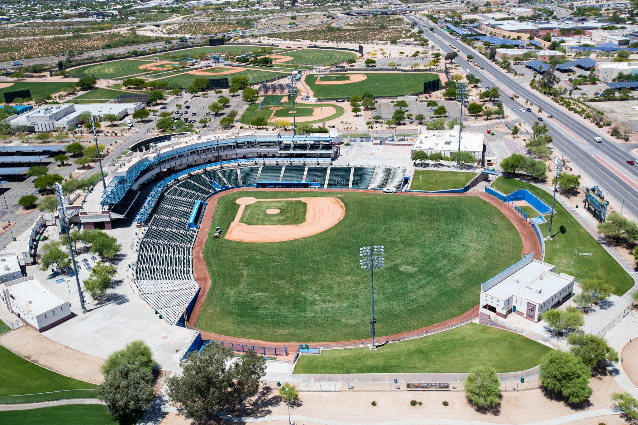 aerial shot of kino sports complex