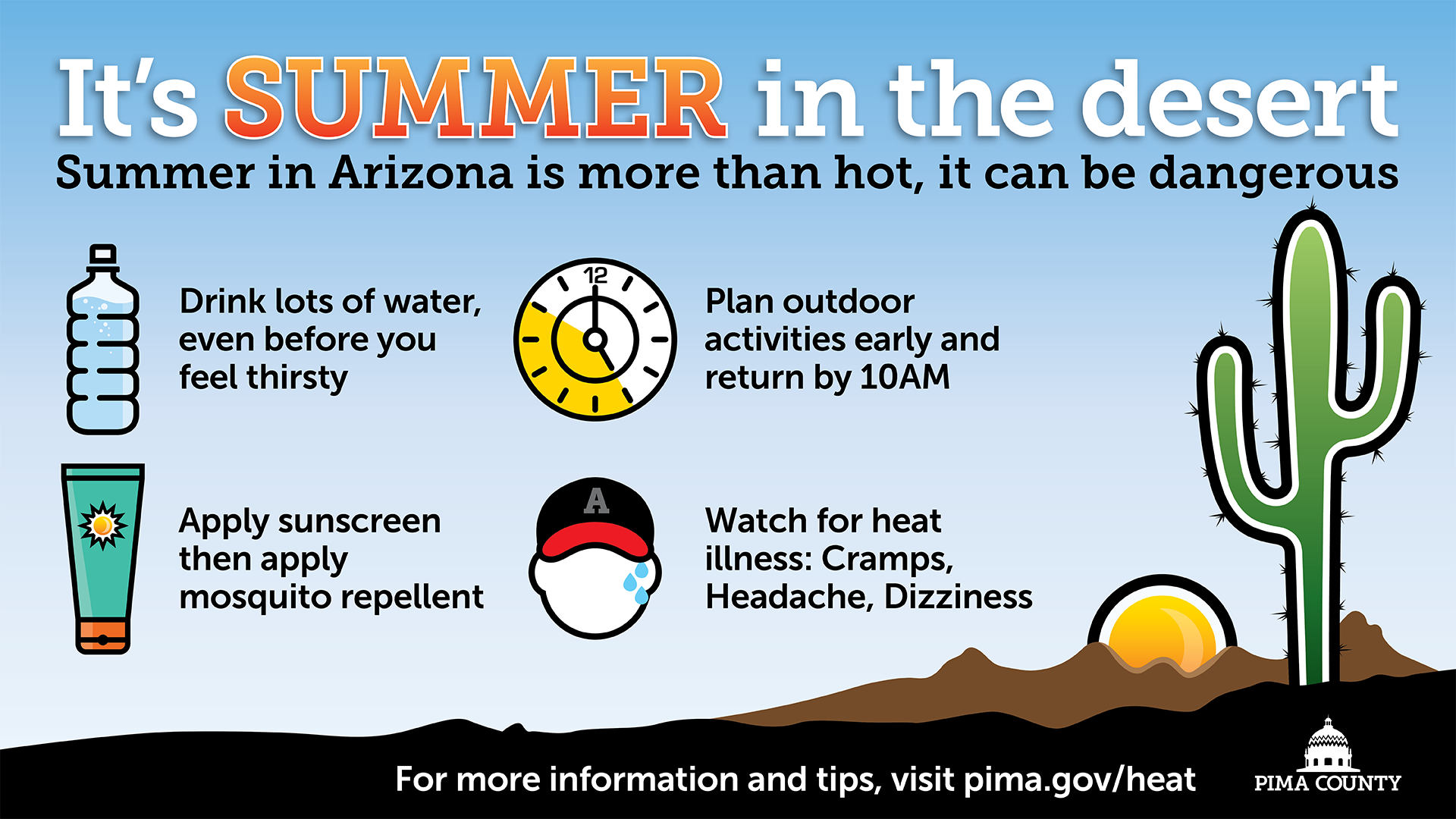 Beat the heat pima county digital poster english spanish aiddatafo Image collections