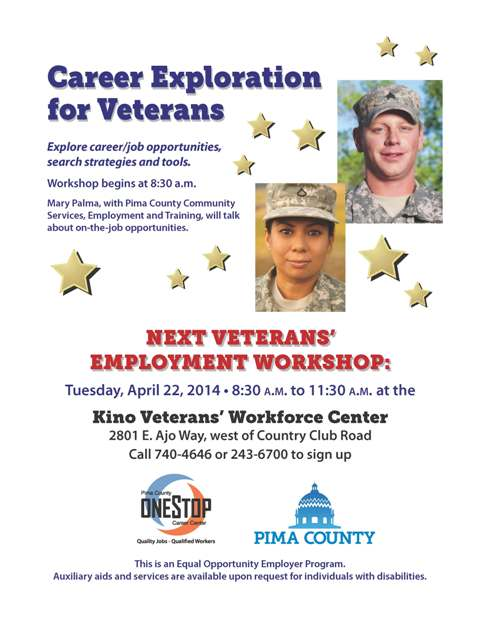 Veterans career flier