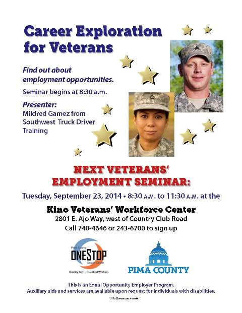 Veterans career seminar