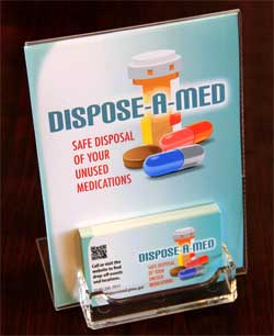 Dispose A Med display