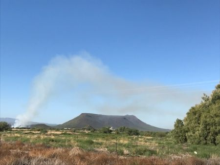 Smoke from San Xavier Co-Op Farm Fire