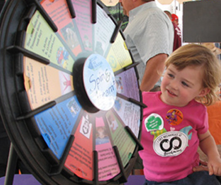 Child Spinning Wheel of Wisdom