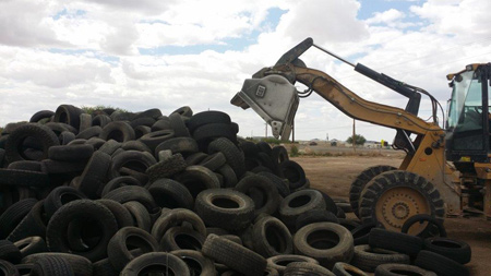 Waste Tire Pile