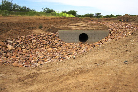 Outlet erosion control protection