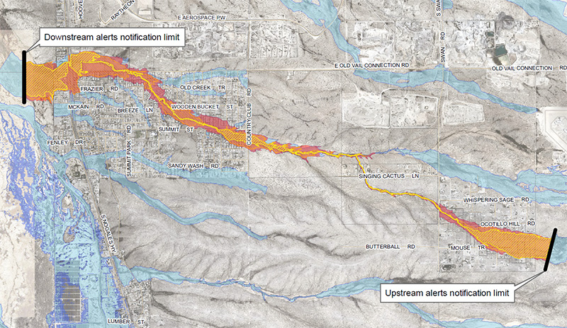 Click to view full map of inundation areas for Franco Wash, with legend.