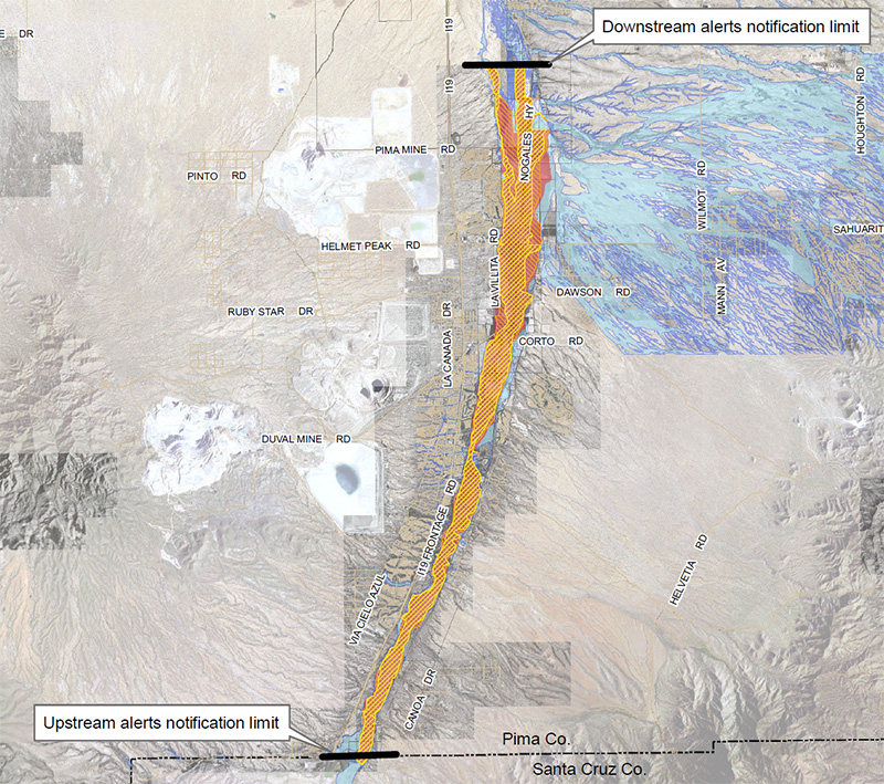 Map of Upper Santa Cruz River inundation area (click for full map)