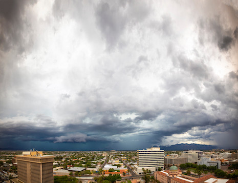 July 10 Monsoon storm seen from Downtown Tucson