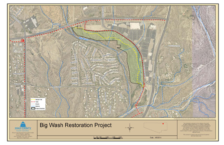 Big Wash Restoration Project Site Map