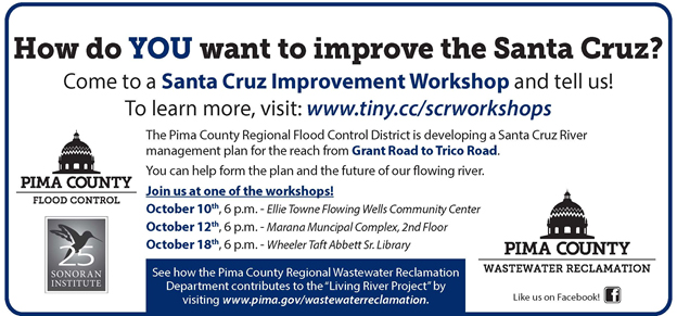 Invitation to Santa Cruz River Management Plan workshops