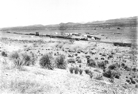Historic Pantano townsite photo from 1880