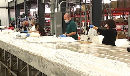 Gown manufacturing
