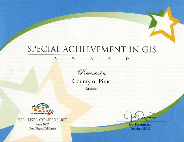 Special Achievement in GIS