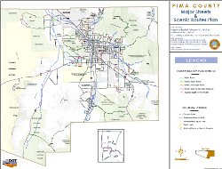 Major Streets and Scenic Routes Map