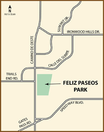 Feliz Paseos map