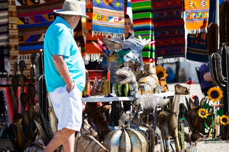 Shopper at Anza Day