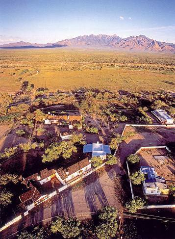 Photograph of the Canoa Ranch Headquarters, view to the east.