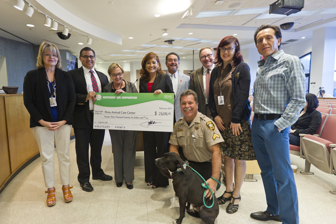 PACC receives donation check