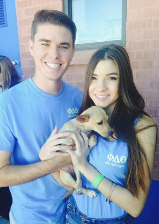 Phi Delt Puppies event