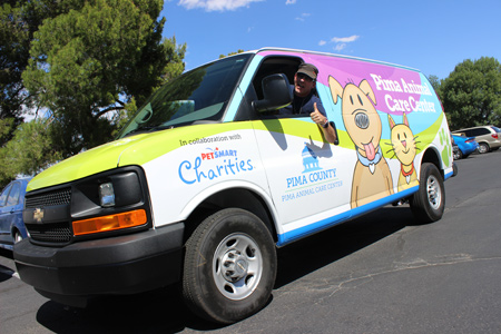 PACC van funded by PetSmart Charities