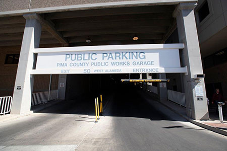 Downtown Tucson Public Works Parking Garage 50 West Alameda Entrance
