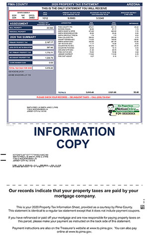 Taxpayer Information Sheet No Coupon