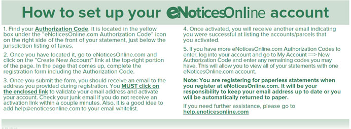 How to set up eNotices Online