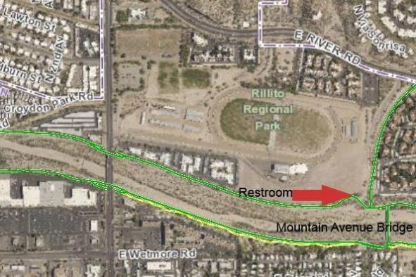 Rillito north bank closure