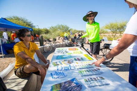 Bike outreach event