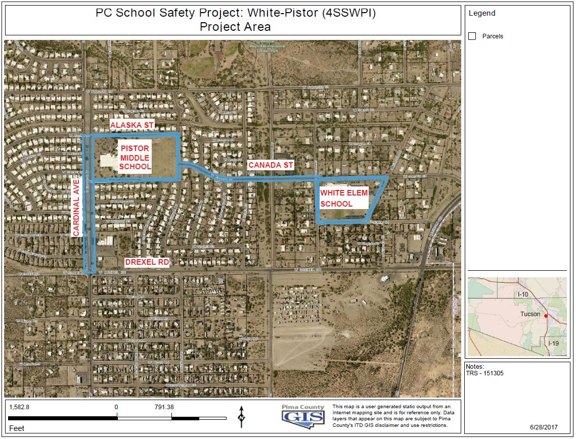 PC School Safety Project: White-Pister map