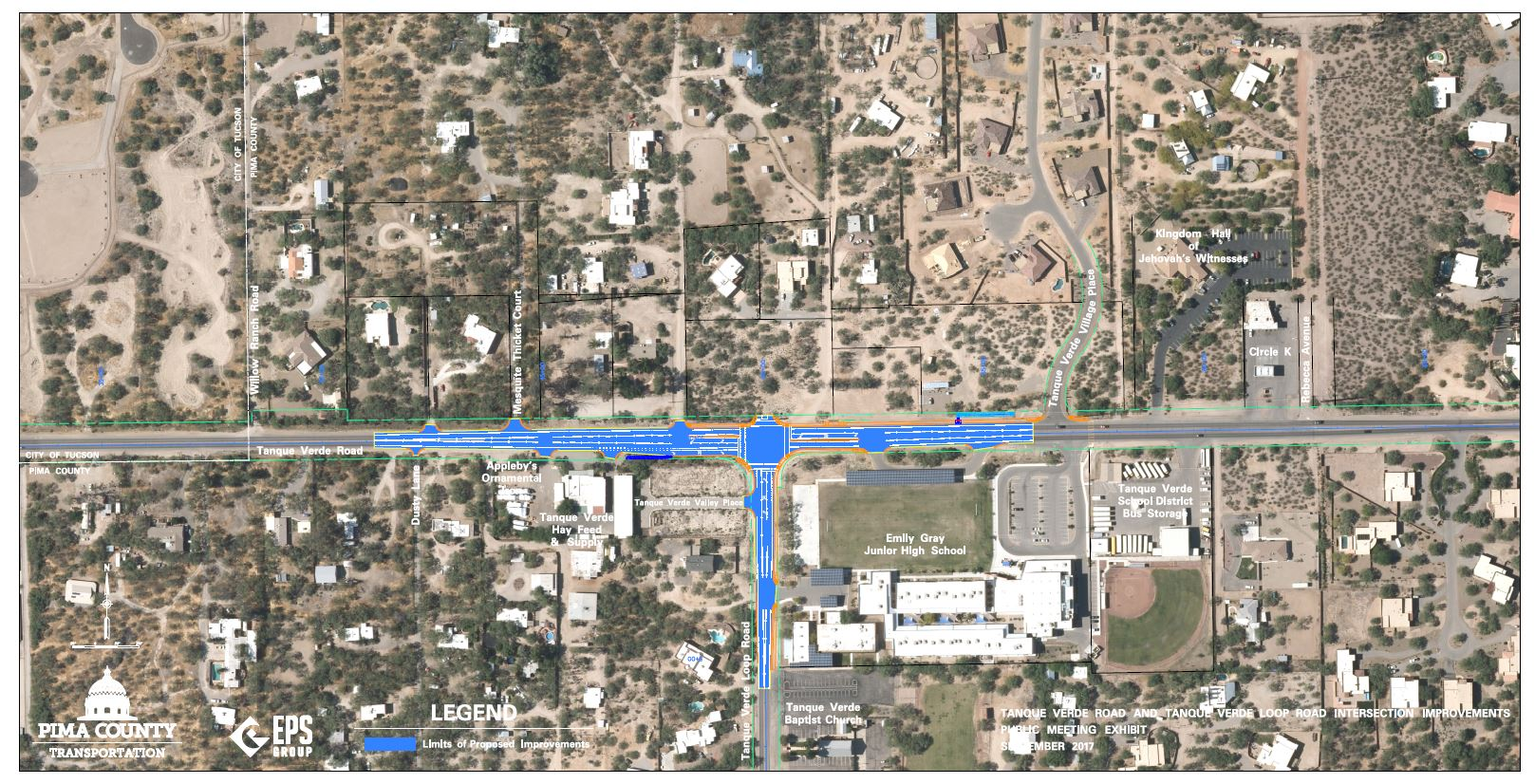Tanque Verde - Tanque Verde Loop Rd Intersection map