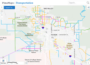 Major Streets and Scenic Routes Plan PimaMaps map