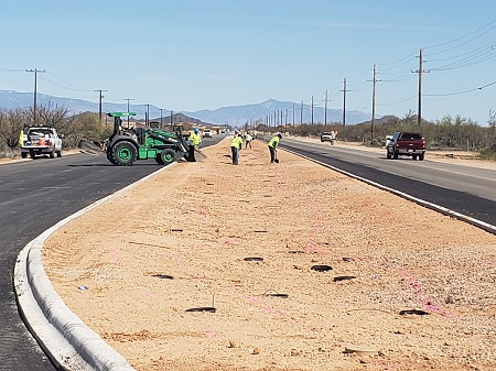Road repair work