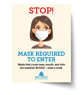 Stop - Mask Required Material