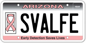 Pink Ribbon License Plate Program